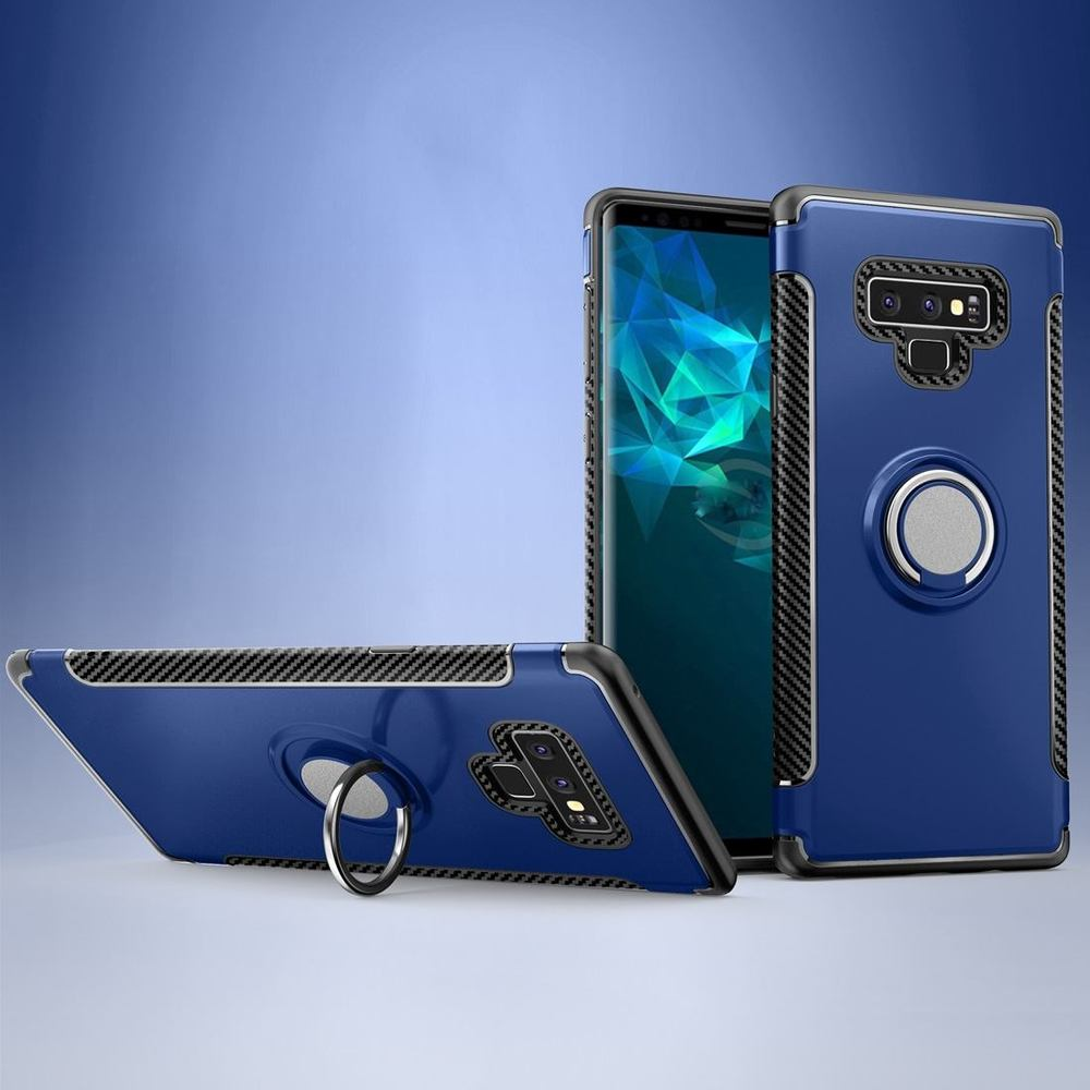 Blue Magnetic 360-degree Rotation Ring Armor Samsung Galaxy Note 9 Case