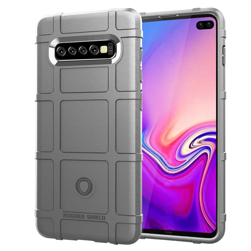 Samsung Galaxy S10 PLUS Case Grey Silicone Back Cover with Shockproof & Antiscratch Features