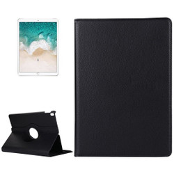 iPad Air 3 (2019) Case Black Lychee Texture 360 Degree Spin PU Leather Folio Case with Precise Cutouts, Built-in Stand
