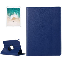 iPad Air 3 (2019) Case Navy Blue Lychee Texture 360 Degree Spin PU Leather Folio Case with Precise Cutouts, Built-in Stand | Free Shipping Across Australia