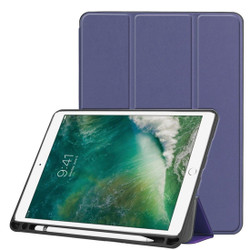 iPad Air 3 (2019) Case Dark Blue Karst Texture PU Leather Flip-Style Cover with Kickstand & Pen Slot | Free shipping across Australia