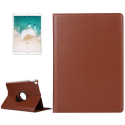 iPad Air 3 (2019) Case Brown Lychee Texture 360 Degree Spin PU Leather Folio Case with Precise Cutouts, Built-in Stand | Free Shipping Across Australia