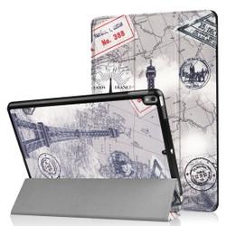 iPad Air 3 (2019) Case Retro Tower Pattern Folio PU Leather 3-fold Holder & Sleep/Wake Function Cover | Free shipping across Australia