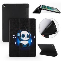 iPad Air 3 (2019) Case Music Panda Pattern PU Leather & Honeycomb TPU Folio Cover | Free Delivery Across Australia