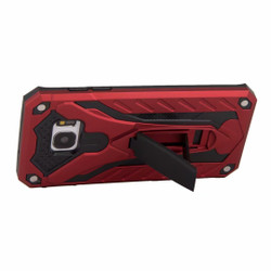 Samsung Galaxy S7 EDGE Case, Armour Strong Shockproof Cover with Kickstand, Red | Armor Samsung Galaxy S7 Edge Cases | Armor Samsung Galaxy S7 Edge Covers | iCoverLover
