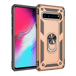 Samsung Galaxy S10 5G Case Gold Armour Shockproof TPU + PC Cover with 360 Degree Rotation Holder | Free Delivery across Australia