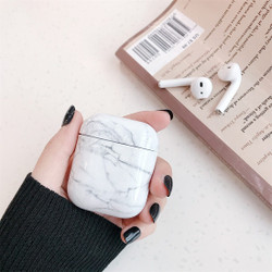 Apple AirPods 1/2 Case White Marble Pattern Wireless Earphones Charging Box Protective Cover with Scratchproof   Free Delivery across Australia