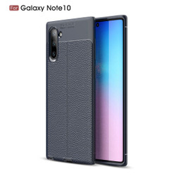 Samsung Galaxy Note 10 Case Navy Blue Lychee Texture TPU shock-proof Protective Back Shell, Anti-Scratch, Anti-Slip| Free Delivery in Australia