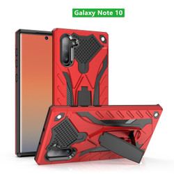 Samsung Galaxy Note 10 Case Red PC+TPU Plastic Armour Protective Cover with Impact Protection, Scratch Resistant, Stand