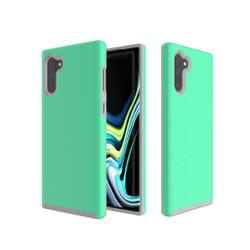 Anti-slip Armor Texture TPU + PC Case for Galaxy Note10(Green)