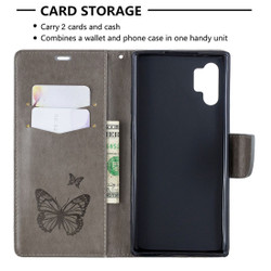 Stylish Galaxy Note 10+ Folio Cover, Butterfly Pattern | iCoverLover