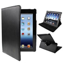 Black Rotatable Leather iPad 2 / iPad 3 / iPad 4 Case | Cool iPad 2, 3, 4 Cases | iPad 2, 3, 4 Covers | iCoverLover