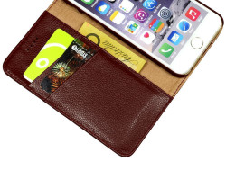 iPhone 6S & 6 Case Red Fashion Cowhide Genuine Leather Wallet with Card and Cash Compartments | Genuine Leather iPhone 6 & 6S Covers Cases | Genuine Leather iPhone 6 & 6S Covers