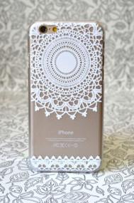 White Top Mandala Transparent iPhone 6 & 6S Case | Protective iPhone Cases | Protective iPhone 6 & 6S Covers