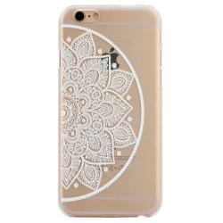 White Half Mandala Transparent iPhone 6 Plus & 6S Plus Case | Fashion iPhone 6 PLUS & 6S PLUS Cases | Fashion iPhone 6 PLUS & 6S PLUS Covers | iCoverLover