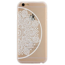 White Half Mandala Transparent iPhone 6 Plus & 6S Plus Case | Fashion iPhone 6 PLUS & 6S PLUS Cases | Fashion iPhone 6 PLUS & 6S PLUS Covers | iCoverLover