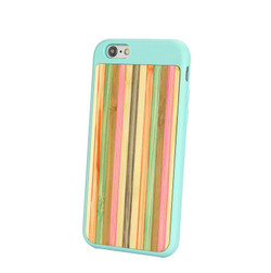 Blue Bamboo Rainbow iPhone 6 & 6S Case   Wooden iPhone Cases   Wooden iPhone 6 & 6S Covers   iCoverLover