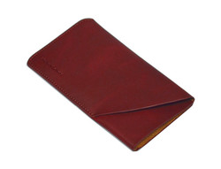 iPhone 8, 7, 6S & 6 Reddish Brown Top-grain Genuine Leather Pouch, Headphone Case, Anti-Scratch, Anti-Slip and Wear-and-Tear Resistant Genuine Leather iPhone 6, 6S & 8 & 7 Cases   Genuine Leather iPhone 6, 6S & 8 & 7 Covers