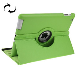 Green Rotatable Leather Smart Function iPad 2 / iPad 3 / iPad 4 Case | Leather iPad 2, 3, 4 Cases | Smart iPad 2, 3, 4 Covers | iCoverLover