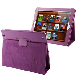 Purple Lychee Leather iPad 2, iPad 3 & iPad 4 Case | Leather iPad 2, 3, 4 Cases | Smart iPad 2, 3, 4 Covers | iCoverLover