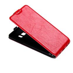 Red Vertical Flip Samsung Galaxy Note FE Case   Leather Samsung Galaxy Note FE Cases   Leather Samsung Galaxy Note FE Covers   iCoverLover