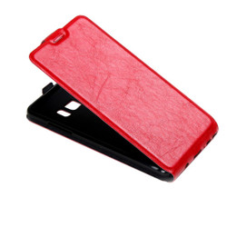 Red Vertical Flip Samsung Galaxy Note FE Case | Leather Samsung Galaxy Note FE Cases | Leather Samsung Galaxy Note FE Covers | iCoverLover