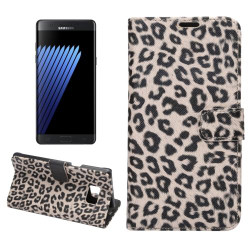Yellow Leopard Leather Wallet Samsung Galaxy Note FE Case    Leather Samsung Galaxy Note FE Cases   Leather Samsung Galaxy Note FE Covers   iCoverLover