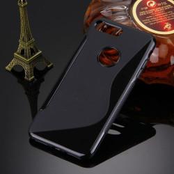 Black Grippy S-Shaped iPhone 8 PLUS & 7 PLUS Case | Protective iPhone 8 PLUS & 7 PLUS Cases | Protective iPhone 8 PLUS & 7 PLUS Covers | iCoverLover