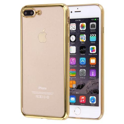 quality design 3a12c ae852 Gold Transparent Electroplating iPhone 8 PLUS & 7 PLUS Case