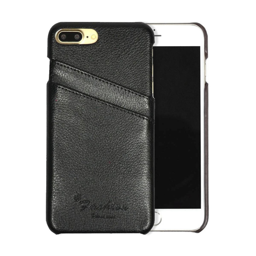 iphone 8 plus \u0026 iphone 7 plus case black genuine leather fashioniphone 8 plus \u0026 iphone 7 plus case black genuine leather fashion cover with 2 exterior