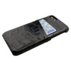 iPhone 8 & 7 Case Black Crocodile Pattern Genuine Leather Protective Shell with 1 Card Slot, Anti-Grip, Scratch-Resistant and Drop-proof | iPhone 8 & 7 Genuine Leather Covers | iPhone 8 & 7 Genuine Leather Cases | iCoverLover