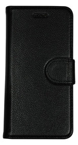 iPhone 8 & iPhone 7 Case Black Cowhide Genuine Leather Wallet Case with 2 Card Slots, Kickstand | Genuine Leather iPhone 8 & iPhone 7 Covers Cases | Genuine Leather iPhone 8 & iPhone 7 Covers