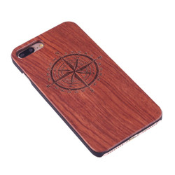 Rosewood Compass Wooden iPhone 8 PLUS & 7 PLUS Case | Wooden iPhone 8 PLUS & 7 PLUS Cases | Wooden iPhone 8 PLUS & 7 PLUS Covers | iCoverLover
