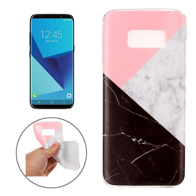 Black and White Marble Pattern TPU Samsung Galaxy S8 Protective Case   Leather Samsung Galaxy S8 Cases   Fashion Samsung Galaxy S8 Covers   iCoverLover