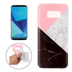 Black and White Marble Pattern TPU Samsung Galaxy S8 Protective Case | Leather Samsung Galaxy S8 Cases | Fashion Samsung Galaxy S8 Covers | iCoverLover