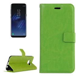 Green Retro Horse Texture Leather Samsung Galaxy S8 Case | Leather Samsung Galaxy S8 Cases | Leather Samsung Galaxy S8 Covers | iCoverLover