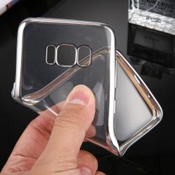 Silver Transparent Electroplating Samsung Galaxy S8 Case | Protective Samsung Galaxy S8 Cases | Protective Samsung Galaxy S8 Covers | iCoverLover