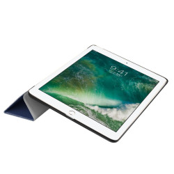 Dark Blue Karst Textured 3-fold Leather iPad 2017 9.7-inch Case   Leather iPad 2017 Cases   iPad 2017 Covers   iCoverLover
