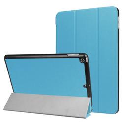 Blue Karst Textured 3-fold Leather iPad 2017 9.7-inch Case | Leather iPad 2017 Cases | iPad 2017 Covers | iCoverLover