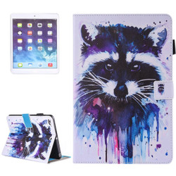 Watercolorful Racoon Leather Wallet iPad 2017 9.7-inch Case | Leather iPad 2017 Cases | iPad 2017 Covers | iCoverLover
