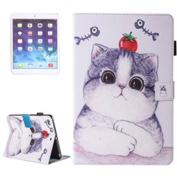 Tomato Cat Leather Wallet iPad 2017 9.7-inch Case | Leather iPad 2017 Cases | iPad 2017 Covers | iCoverLover