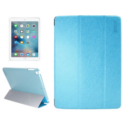 Blue Silk Textured Smart Leather iPad 2017 9.7-inch Case | Leather iPad 2017 Cases | iPad 2017 Covers | iCoverLover