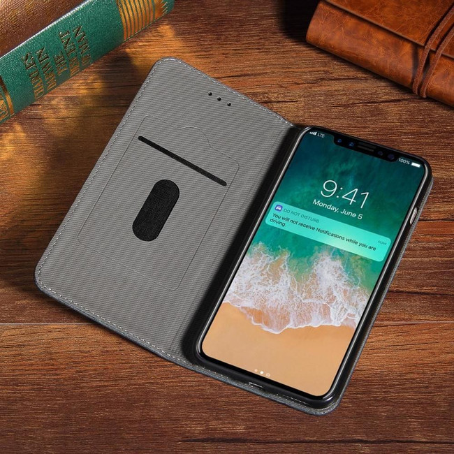 Black Bronze Leather Wallet iPhone XS & X Case