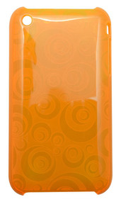 Orange Translucent Geometrical Circles iPhone 3, 3GS Case   Best iPhone Cases   Best iPhone Covers   iCoverLover