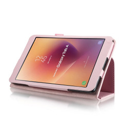 Pink Litchi Leather Samsung Galaxy Tab A 8.0 Case | Leather Samsung Galaxy Tab A 8.0 (2017) Covers | Leather Samsung Galaxy Tab A 8.0 (2017) Cases | iCoverLover