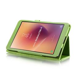 Green Litchi Leather Samsung Galaxy Tab A 8.0 Case | Leather Samsung Galaxy Tab A 8.0 (2017) Covers | Leather Samsung Galaxy Tab A 8.0 (2017) Cases | iCoverLover