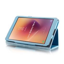 Blue Litchi Leather Samsung Galaxy Tab A 8.0 Case   Leather Samsung Galaxy Tab A 8.0 (2017) Covers   Leather Samsung Galaxy Tab A 8.0 (2017) Cases   iCoverLover