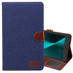 Dark Blue Denim Texture Leather Wallet Samsung Galaxy Tab A 8.0 (2017) Case | Leather Samsung Galaxy Tab A 8.0 (2017) Covers | Leather Samsung Galaxy Tab A 8.0 (2017) Cases | iCoverLover