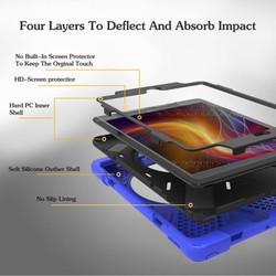 Dark Blue Hand-strap Armor iPad 2017 9.7-inch Case | Armor iPad 2017 Cases |  Armor iPad 2017 Covers | iCoverLover