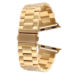 Gold Apple Watch 1,2,3,4 (44mm,42mm) Butterfly Stainless Steel Watch Strap | Stainless Steel Apple Watch Bands | iCoverLover